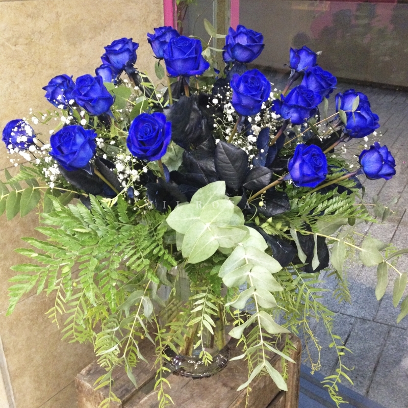 ramo de rosas azul - Imagenes De Ramos De Rosas