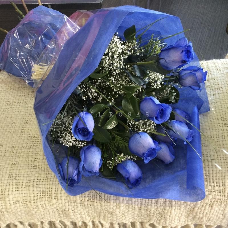 e357761ba ... Ramo de Rosas Azul ...