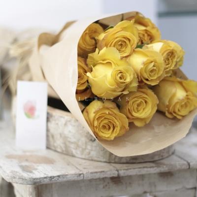 Rosas al Natural Ecobox Amarillas