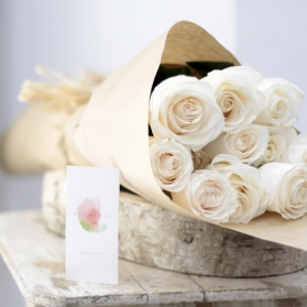 Ecobox Rosas al Natural Blancas