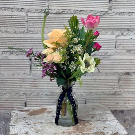 Botella Pequeña Flores