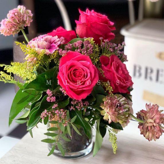 Cristal Detalle Floral Rosas