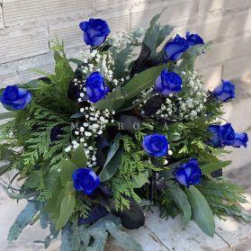 Ramo de Rosas Azul  (Frescas)